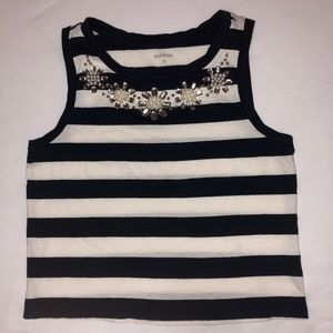 Express Embellished Crop Top